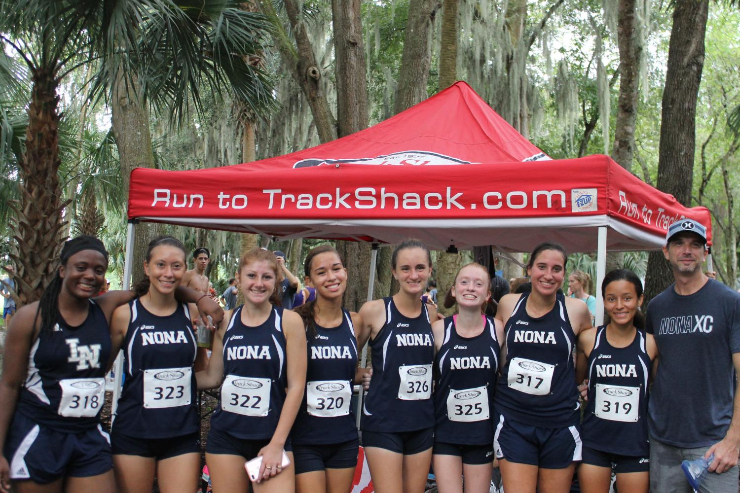 Girls Cross Country team after competing at the Winter Springs Invitational