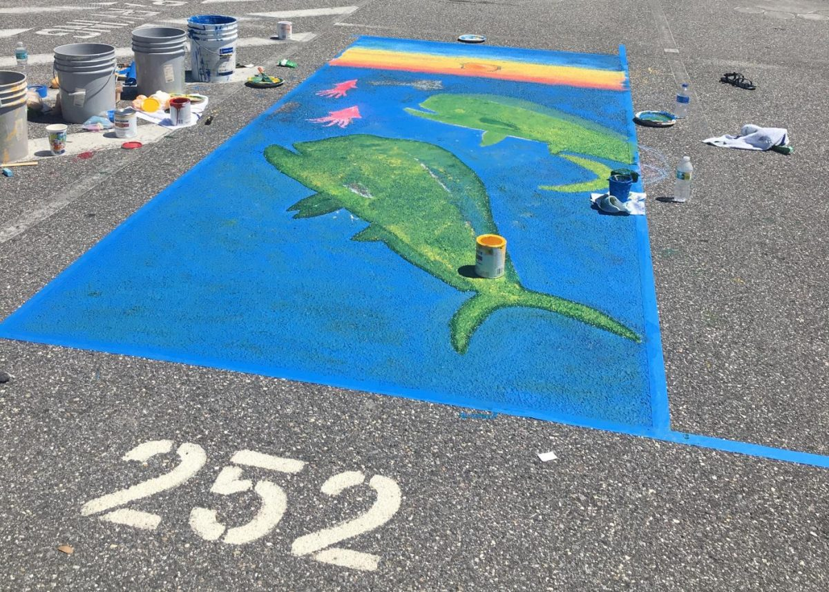 Seniors Bring Out Creativity For The First Annual Parking Spot Painting Lions Legend