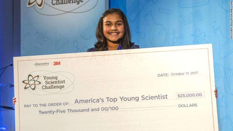 11-year-old Becomes 'America's Top Young Scientist', Wins $25,000 Science Prize