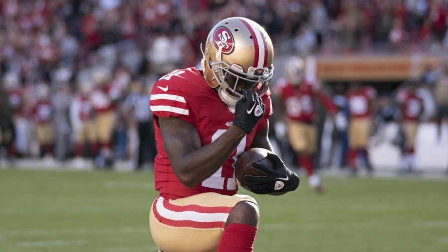 49ers' Marquise Goodwin Scores Touchdown Hours After His Baby's Death