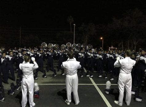 Band at the end of the night at Oviedo performing their music. (creds: IG: lnhs_band_official)