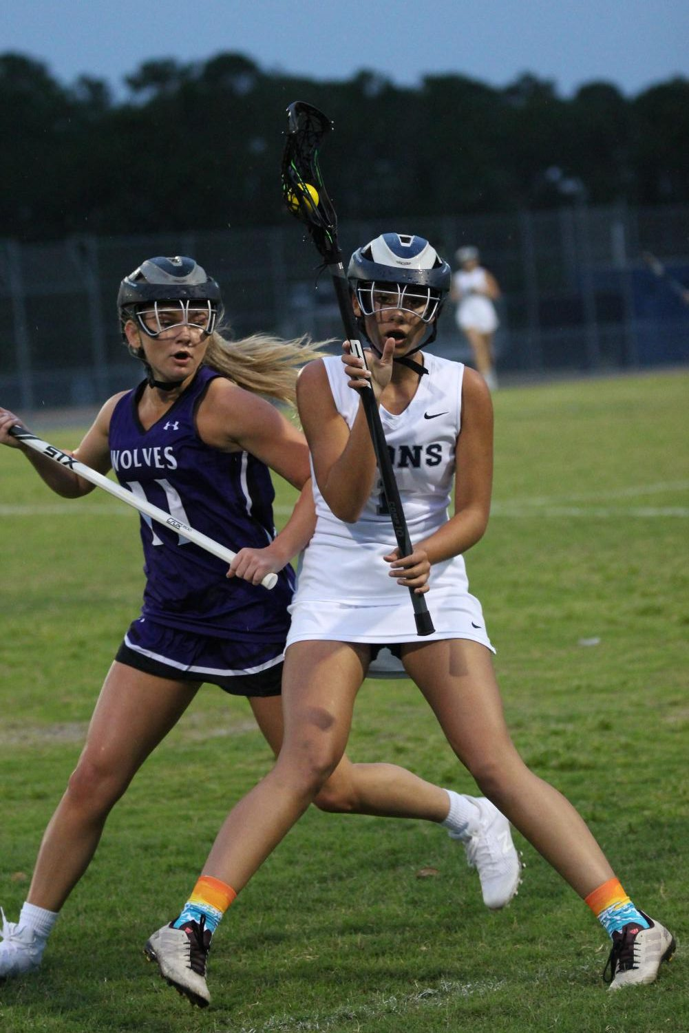 Arielle Barrios (10) boxes out Timber Creek defender