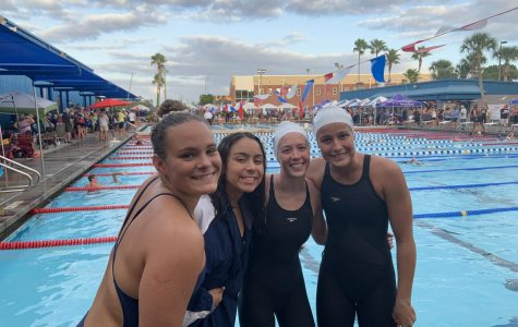 Girls Swimming Place 7 at Lake Brantley Invitational