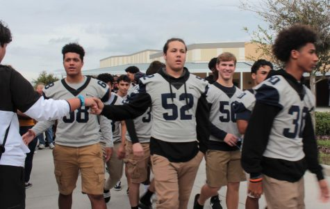 Varsity Football Playoff Walkout